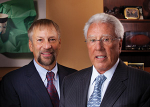 Don & John: Donald's son, John Baumgartner, President of PMC, shares a passion for the business.